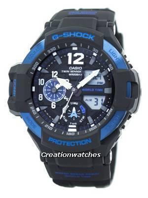 Casio G-Shock GRAVITYMASTER Twin Sensor World Time GA-1100-2B GA1100-2B Men's Watch