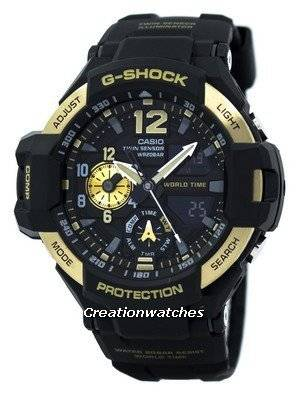 Casio G-Shock GRAVITYMASTER Twin Sensor World Time GA-1100-9G GA1100-9G Men's Watch