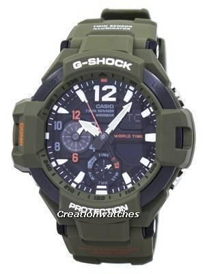 Casio G-Shock Gravitymaster Analog Digital Twin Sensor World Time GA-1100KH-3A GA1100KH-3A Men's Watch