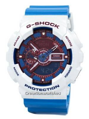 Casio G-Shock Red & Blue Analogue Digital GA-110AC-7A Men's Watch