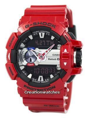 Casio G-Shock G'MIX Bluetooth Smart World Time Analog-Digital GBA-400-4A Men's Watch