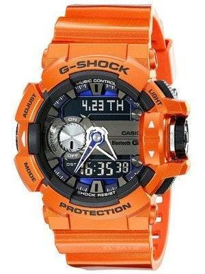 Casio G-Shock G'MIX Bluetooth Smart World Time Analog-Digital GBA-400-4B Men's Watch