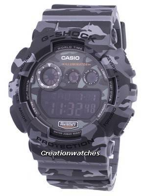 Casio G-Shock Digital Camouflage Series GD-120CM-8 GD120CM-8 Men's Watch