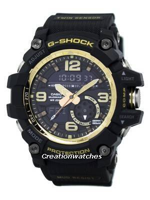 Casio G-Shock MUDMASTER Analog-Digital World Time Alarm GG-1000GB-1A GG1000GB-1A Men's Watch