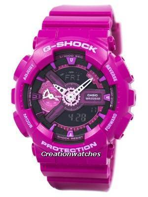Casio G-Shock S Series Analog-Digital World Time GMA-S110MP-4A3 Women's Watch