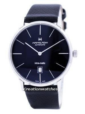 Hamilton Intra-Matic Automatic Black Dial H38755731 Men's Watch