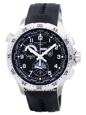 Hamilton Khaki Worldtimer Chrono Quartz H76714335 Men's Watch