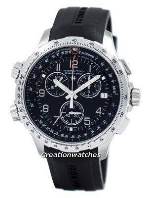 Hamilton Khaki Aviation X-Wind Chronograph Quartz GMT H77912335 Men's Watch