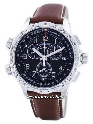 Hamilton Khaki Aviation X-Wind Chronograph Quartz GMT Swiss Made H77912535 Men's Watch