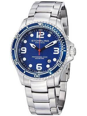 Stuhrling Original Aquadiver Specialty Grand Regatta Swiss Quartz HN593.33 Men's Watch