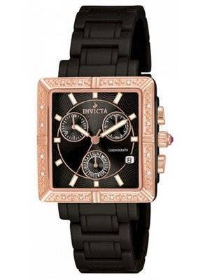 Invicta Ceramics Black Dial Diamonds Chronograph 10217 Women's Watch