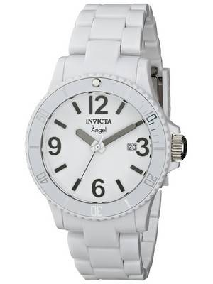 Invicta Angel White Plastic Swiss Quartz 1207 Women's Watch