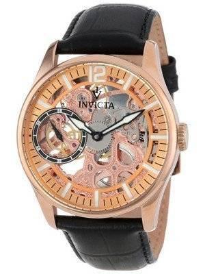 Invicta Vintage Rose Gold-Tone Mechanical Skeleton Dial 12407 Men's Watch