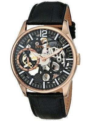 Invicta Vintage Rose Gold-Tone Mechanical Skeleton Dial 12408 Men's Watch