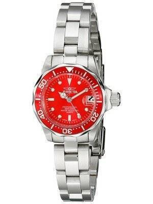 Invicta Pro-Diver 200M Quartz Red Dial 12522 Women's Watch