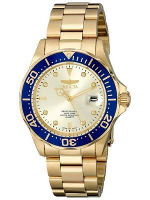 Invicta Pro Diver Quartz Gold Ion Plated 200M 14124 Men's Watch
