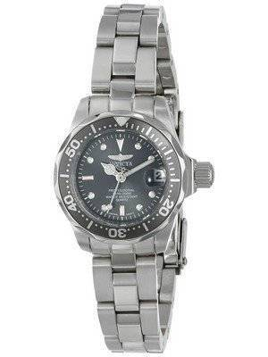 Invicta Pro Diver 200M Quartz Charcoal Dial 14984 Women's Watch