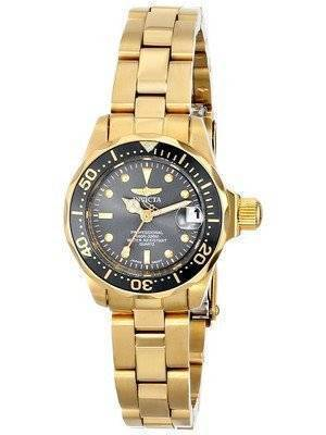 Invicta Pro Diver 200M Quartz Gold IP Black Dial 14986 Women's Watch