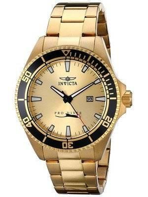 Invicta Pro Diver Gold Tone Quartz 15186 Men's Watch
