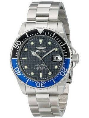 Invicta Pro Diver Automatic 200M WR Black Dial Stainless Steel 15584 Men's Watch