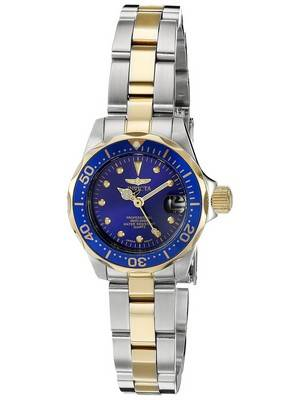 Invicta Pro Diver Quartz Two Tone Bracelet 200M 17035 Women's Watch