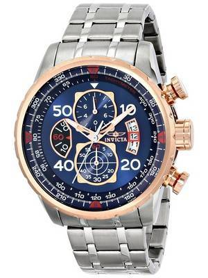 Invicta Aviator Quartz Chronograph Blue Dial 17203 Men's Watch
