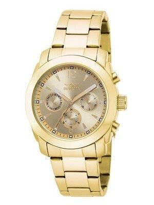 Invicta Angel Gold Dial Gold plated Stainless Steel 17901 Women's Watch