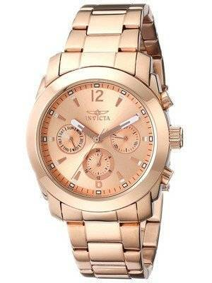Invicta Angel Gold Dial Rose Gold Plated Stainless Steel 17902 Women's Watch