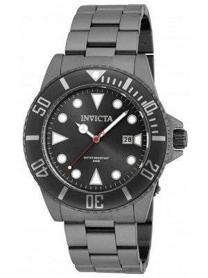 Invicta Pro Diver Quartz Gunmetal Tone 200M 90197 Men's Watch