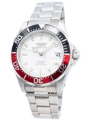 Invicta Automatic Pro Diver 200M Silver Tone Dial 9404 Men's Watch