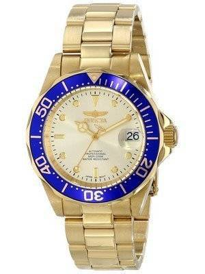 Invicta Automatic Pro Diver 200M Champaign Dial 9743 Men's Watch