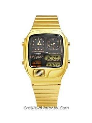 Citizen Ana-digi Thermometer Digital Dual Time Vintage JG2012-50E JG2012