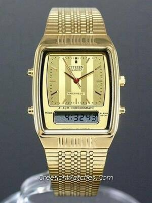 citizen ana-digi vintage retro watch jm0522-53e