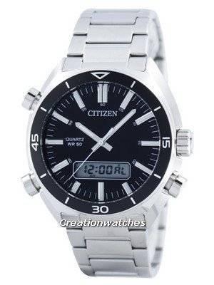 Citizen Quartz Alarm Chronograph Analog Digital JM5460-51E Men's Watch