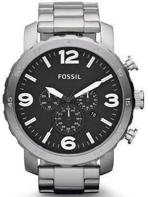 Fossil Nate Chronograph Black Dial JR1353 Men's Watch
