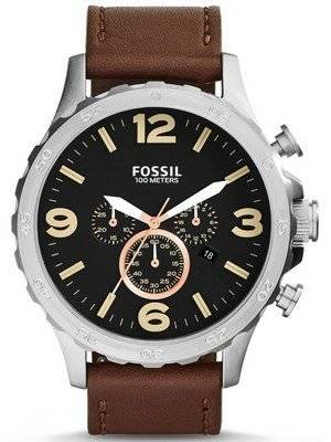 Fossil Nate Chronograph Black Dial JR1475 Men's Watch