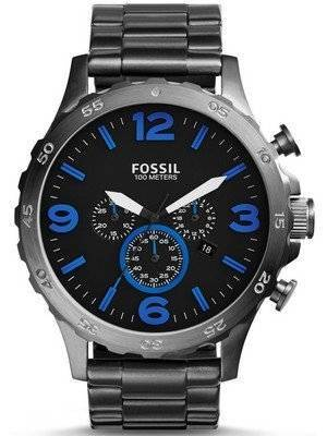 Fossil Nate Chronograph Smoke-Tone JR1478 Men's Watch