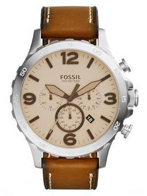 Fossil Nate Chronograph Quartz 100M JR1503 Men's Watch