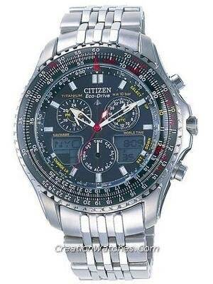 Citizen Promaster Eco-Drive Navihawk Titanium JR3034-59E JR3034 Pilot's Watch