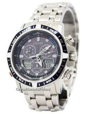 Citizen Sailhawk Eco-Drive Chronograph Analog Digital JR4051-54L Men's Watch