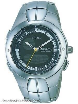 Citizen  Chronograph OXY World Time Alarm  JU0060-57H