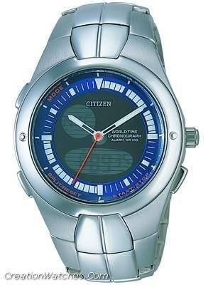 Citizen  Chronograph OXY World Time Alarm  JU0060-57L