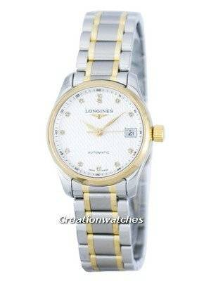 Longines Master Collection Automatic Power Reserve Diamond Accent L2.128.5.77.7 Women's Watch