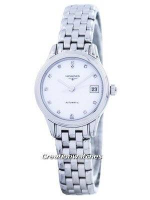 Longines Flagship Automatic Diamond White Dial L4.274.4.27.6 Women's Watch