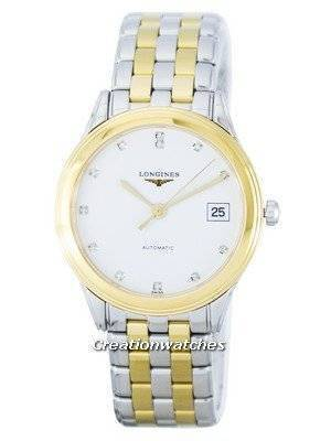 Longines Les Grandes Flagship Automatic Diamond Accent Power Reserve L4.774.3.27.7 Men's Watch