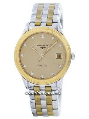 Longines Flagship Automatic Power Reserve 21 Jewels Diamond Accent L4.774.3.37.7 Men's Watch
