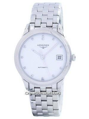 Longines Flagship Automatic Power Reserve Diamond Accent L4.774.4.27.6 Men's Watch