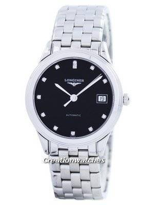 Longines Flagship Automatic Diamond Black Dial L4.774.4.57.6 Men's Watch