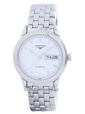Longines Flagship Automatic Power Reserve 25 Jewels L4.799.4.12.6 Men's Watch