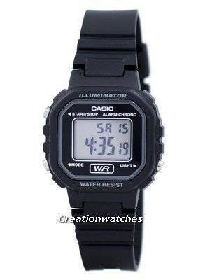Casio Digital Quartz Alarm Chrono Illuminator LA-20WH-1ADF LA-20WH-1A Women's Watch